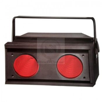 Led Audience Blinder COB 2X150WRGBW 4IN1 25 Degree IP44 Black Shell