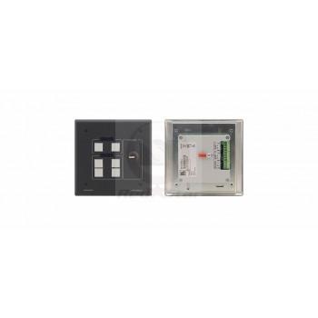 Kramer RC-53DLC Внешняя панель управления с 6 кнопками для устройств с шиной K-NET, с цифровым регулятором громкости; разноцветные кнопки, ЖК-индикаторы