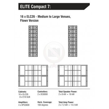ELITE COMPACT 7 комплект звукоусилительный
